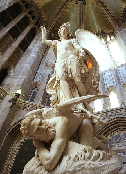 Archangel Michael overcoming Lucifer
