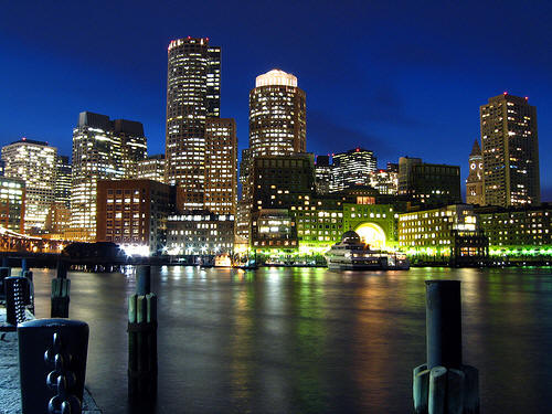 Boston City Night View